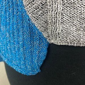 Helmut Lang Sweaters - Helmut Lang asymmetrical blue & gray Sweater